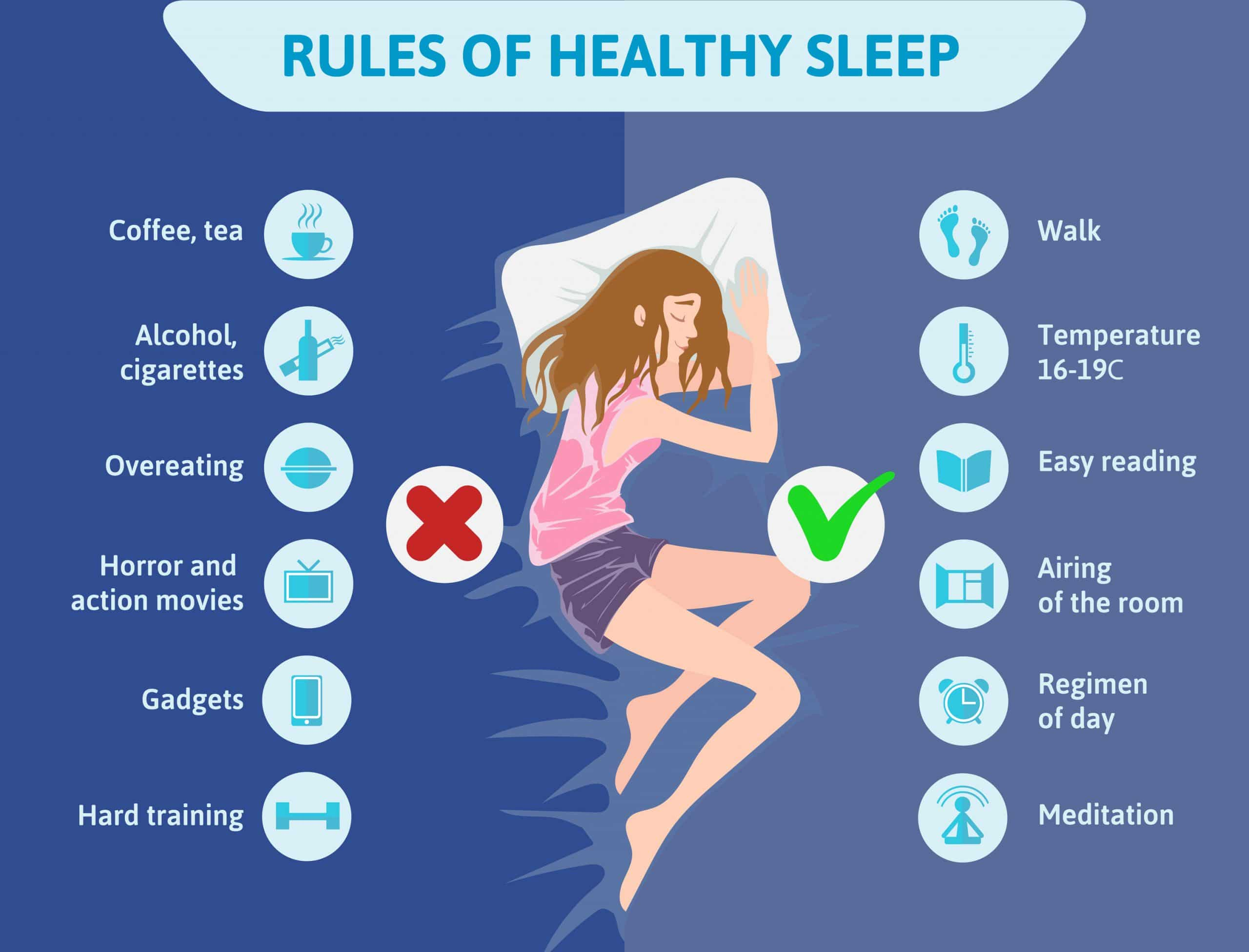 rules of helthy sleep